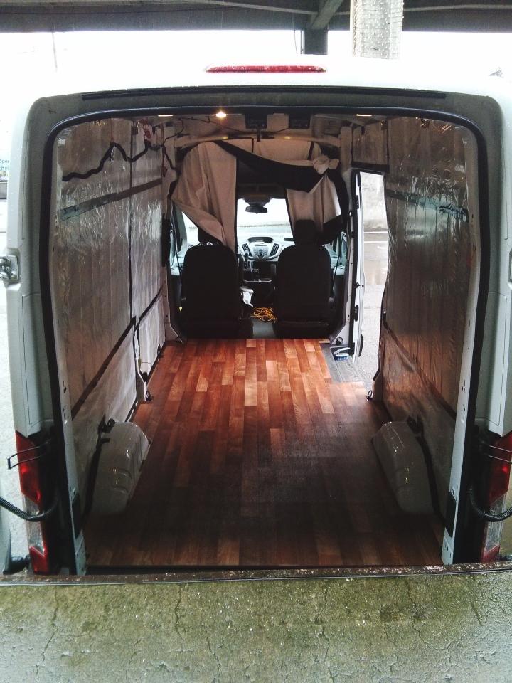 Van Conversions - Floor Installation - Ford Transit Campervan