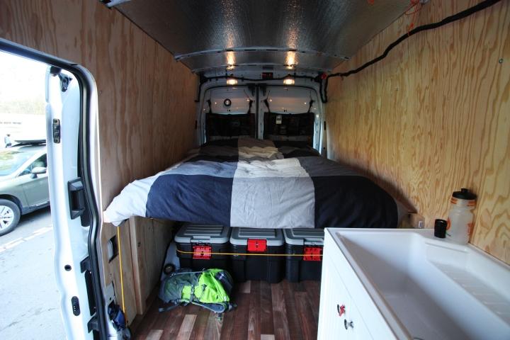 Van Conversions - Wall Installation - Ford Transit Campervan